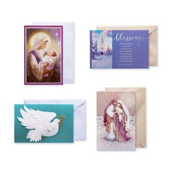 20ct Religious Assorted Christmas Boxed Greeting Cards And Assorted Envelopes