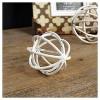 "Decorative Metal Ball White (3"") - VIP Home & Garden - image 2 of 2"