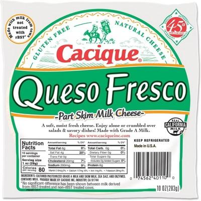 Cacique Queso Fresco Part Skim Milk Cheese - 10oz