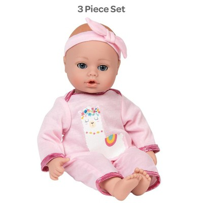 Adora My First Baby Doll - Playtime Llama Pajama, 13 inches, Open Close Eyes, Can Suck Her Thumb