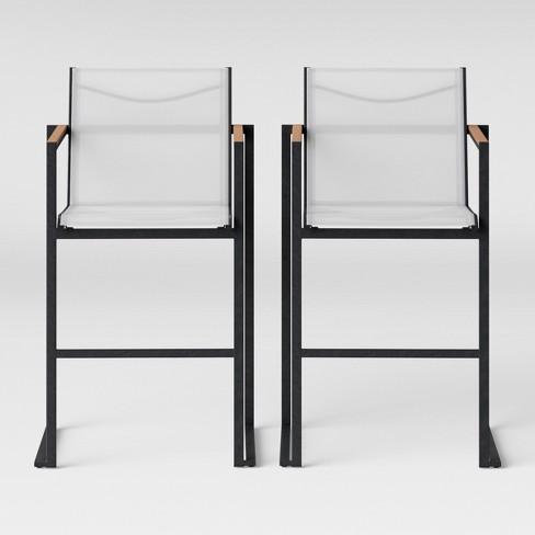 Henning 2pk Bar Height Patio Chair, Outdoor Patio Furniture Bar Height