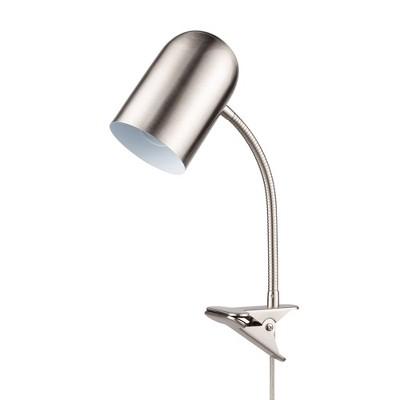 "15"" Carter Clip Arm Adjustable Gooseneck Table Lamp Brushed Nickel - Globe Electric"