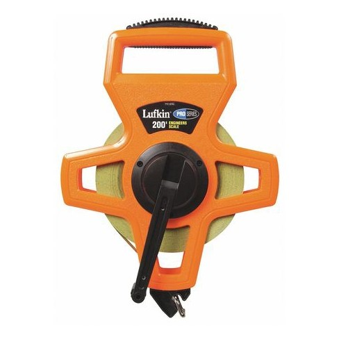 "CRESCENT LUFKIN PS1808DN 200 ft. Tape Measure, 1/2"" Blade, Orange/Black - image 1 of 1"