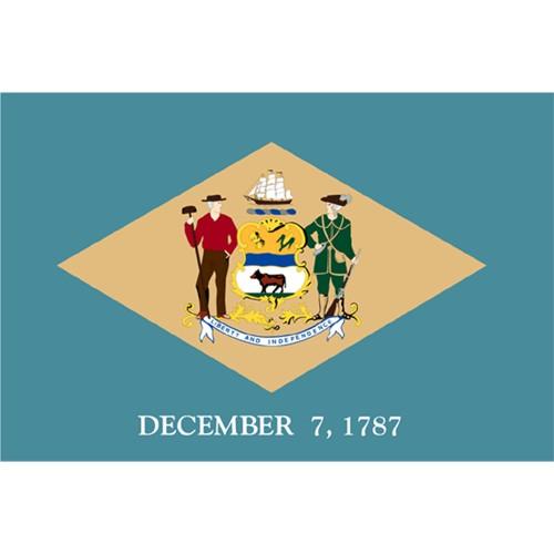Halloween Delaware State Flag - 4' x 6'