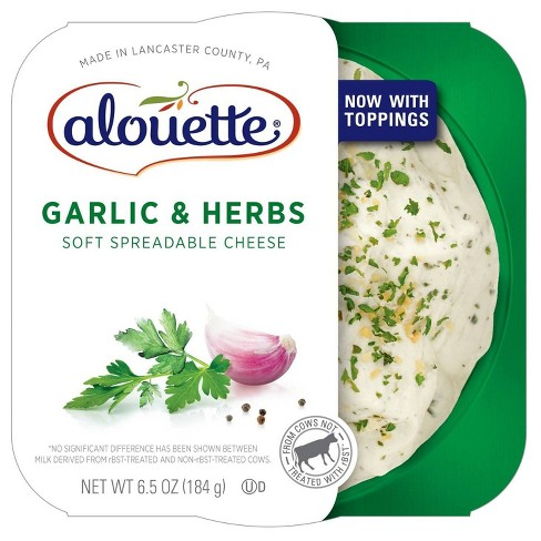 Alouette Garlic Herb Spread Cheese 6.5oz - image 1 of 4