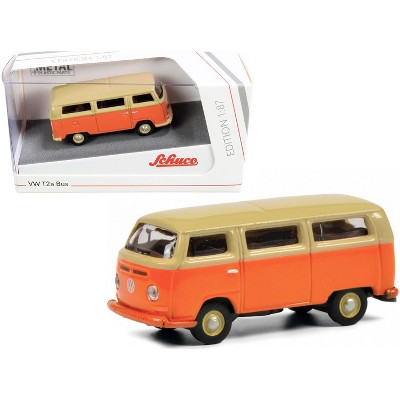 Volkswagen T2a Bus Orange and Yellow 1/87 (HO) Diecast Model by Schuco
