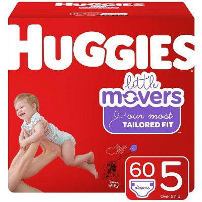 Huggies Little Movers Diapers Super Pack - Size 5 (60ct)