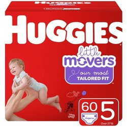 Huggies Little Movers Diapers - Size 5 (60ct)