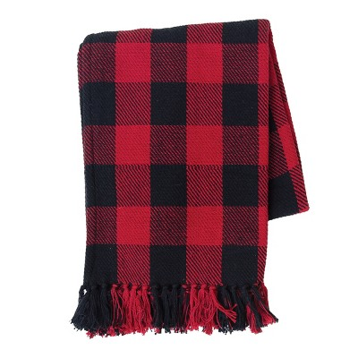 C&F Home Franklin Red & Black Woven Throw