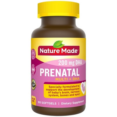 Nature Made Prenatal Multivitamin + 200 mg DHA Softgels - 90ct