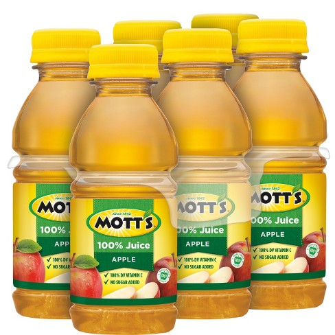 Mott's 100% Original Apple Juice - 6pk/8 fl oz Bottles