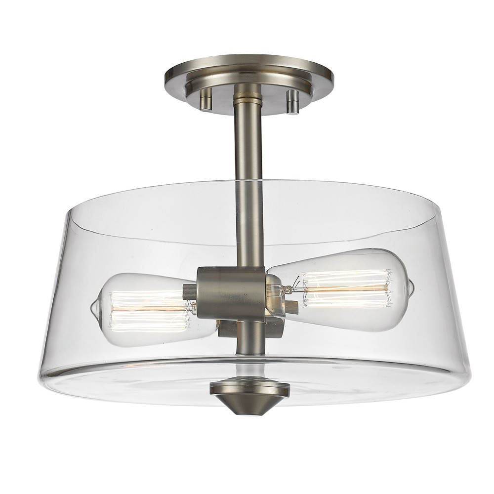 Semi Flush Mount Ceiling Lights with Clear Glass (Set of 2) - Z-Lite