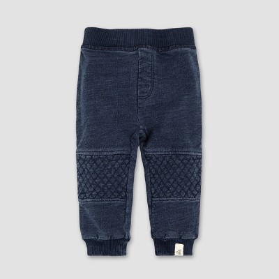 Burt's Bees Baby® Baby Boys' French Terry Denim Wash Pants - Midnight 0-3M