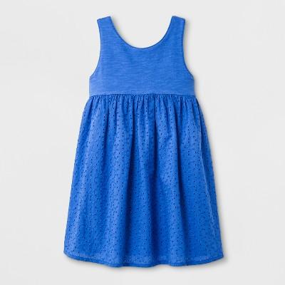 Toddler Girls' A-Line Dress - Cat & Jack™ Amparo Blue 12M