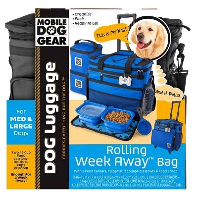 Overland Travelware Suitcase - Dog- Rolling Weekender - Black