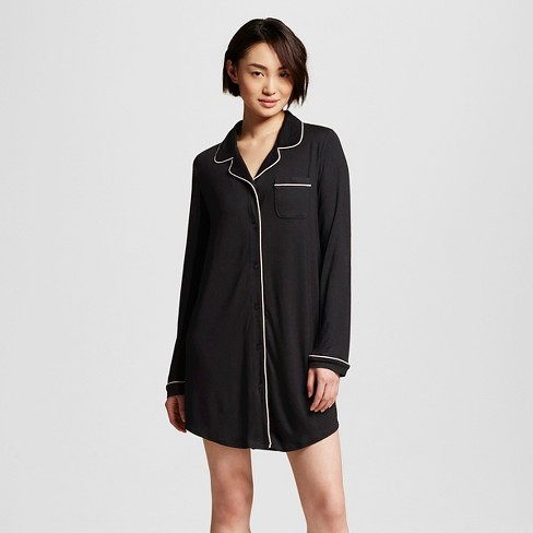 Women's Sleepwear Fluid Knit Nightgown - Gilligan & O'Malley™ Black - image 1 of 2