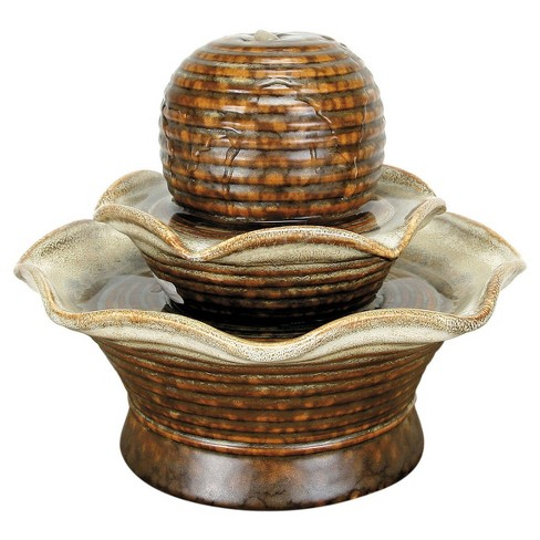 "8"" x 8"" x 7.75"" Tiered Fountain - Brown - Foreside Home & Garden - image 1 of 1"