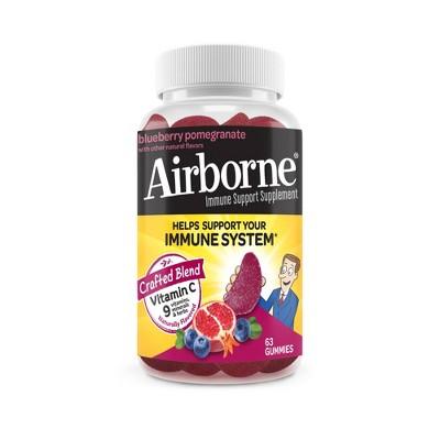 Airborne Vitamin C Immune Support Gummy - Pomegranate & Berry - 63ct