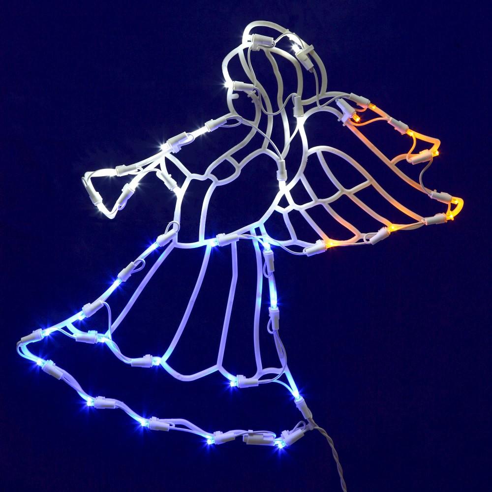 Image of 35 LED Light Angel Window Decor Multicolored