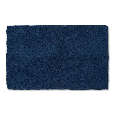 "38""x24"" Tufted Spa Bath Rug Metallic Blue - Fieldcrest®"
