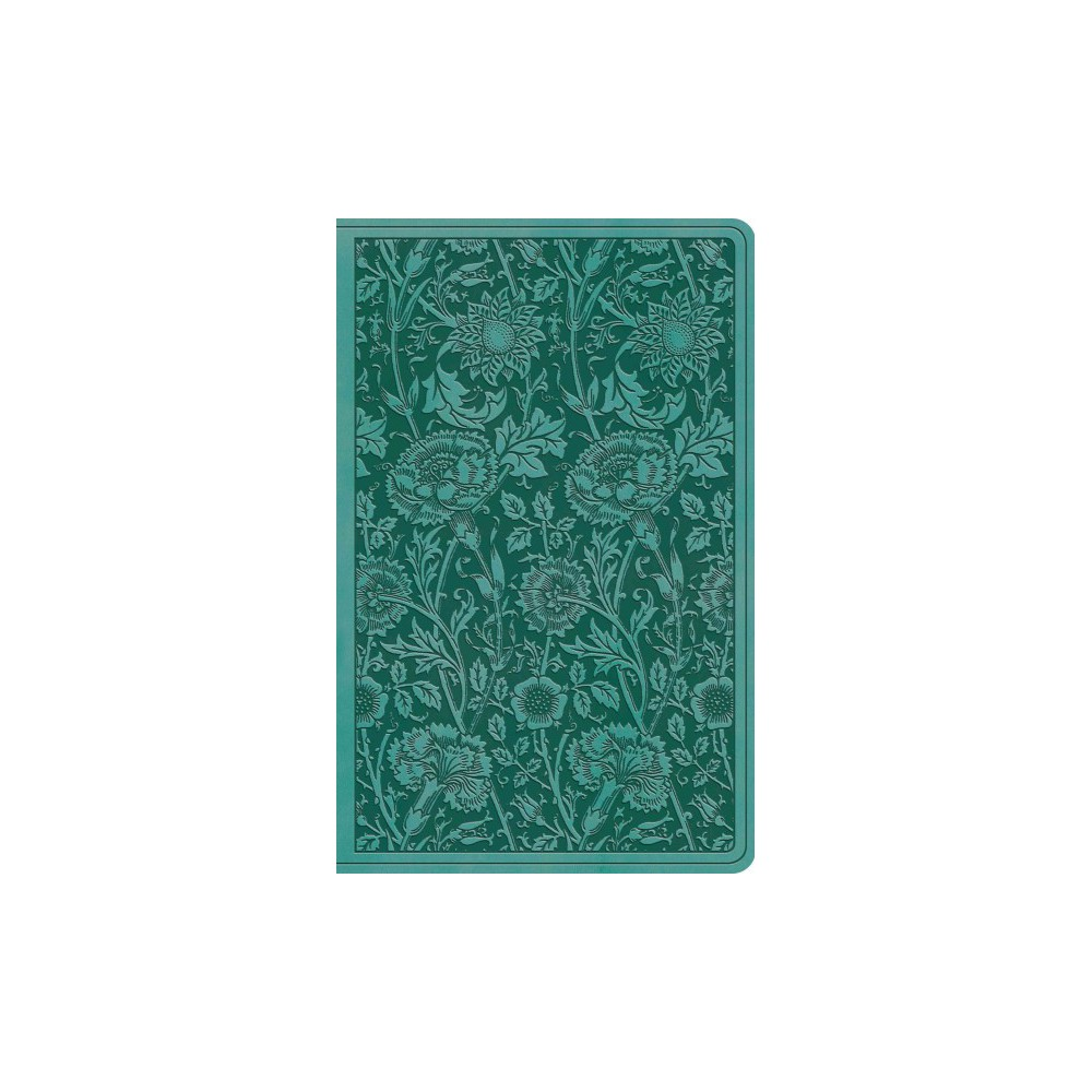 Holy Bible : English Standard Version, Teal, Floral, Trutone, Premium Gift (Paperback)