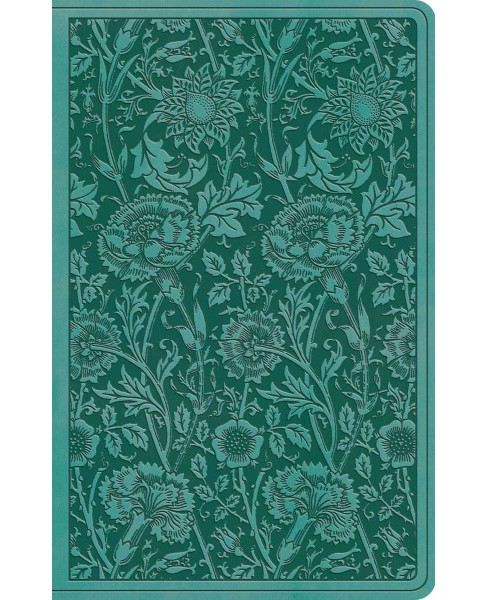Holy Bible : English Standard Version, Teal, Floral, Trutone, Premium Gift (Paperback) - image 1 of 1