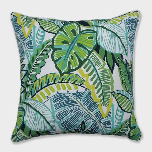 "25"" Aruba Jungle Floor Pillow Blue - Pillow Perfect - image 1 of 2"