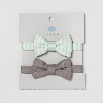 Baby Bow Ties 2pk - Cloud Island™ Mint/Gray