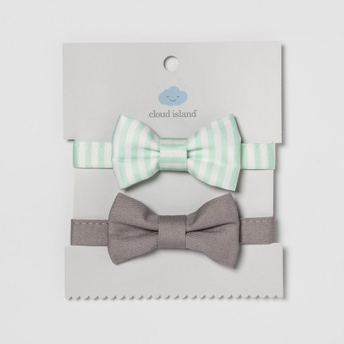 Baby Bow Ties 2pk - Cloud Island™ Mint/Gray - image 1 of 1