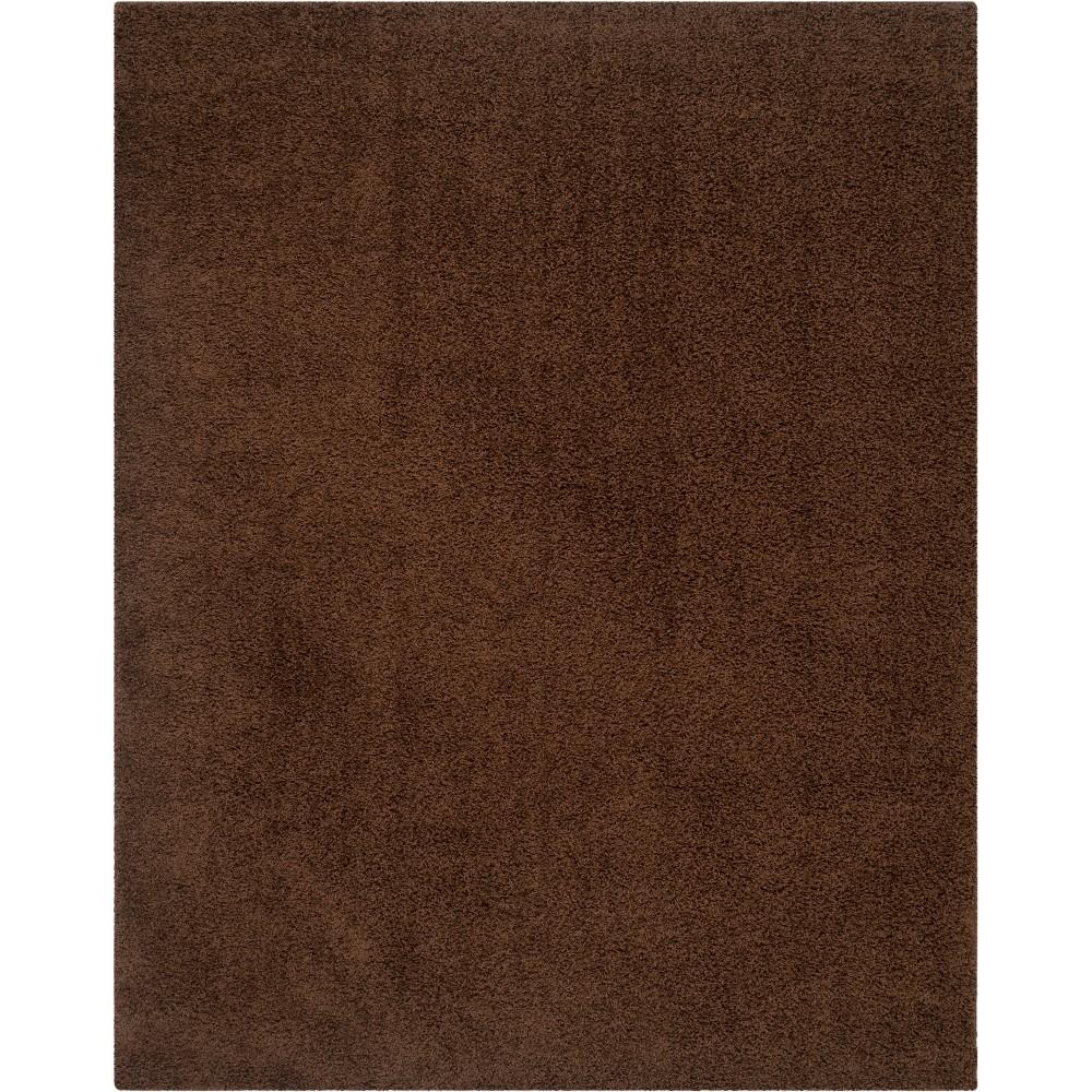 8'X10' Solid Loomed Area Rug Brown/Light Gray - Safavieh