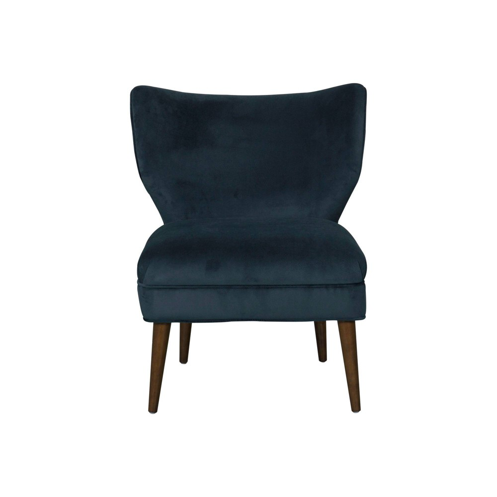 Wingback Accent Chair Textured Navy Velvet - HomePop was $269.99 now $202.49 (25.0% off)