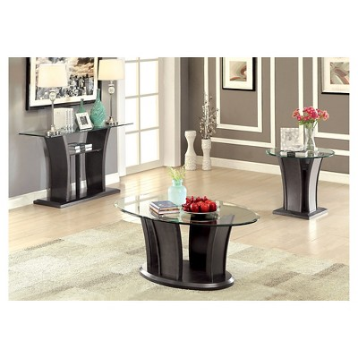 Lovely Occasional Table Set Graystone   Furniture Of America