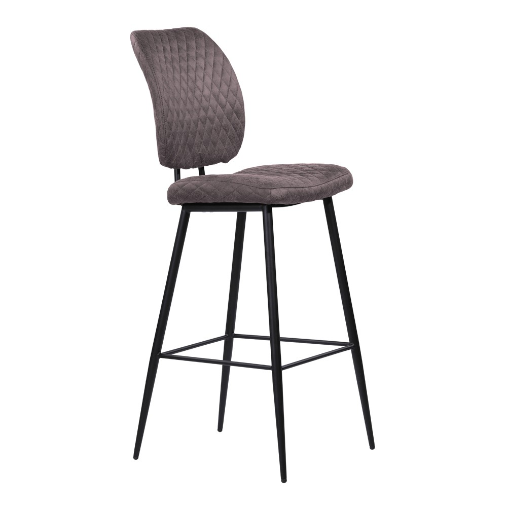 "Image of ""26"""" Armen Living Buckley Contemporary Counter Height Barstool Gray, Gray Black"""