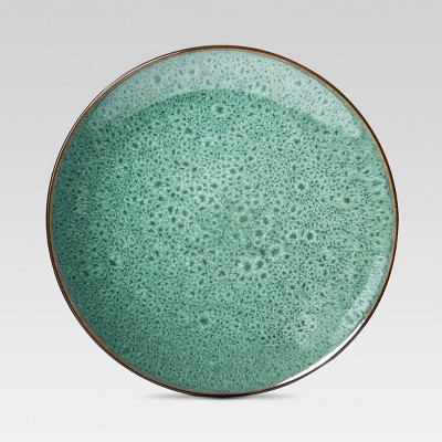 Belmont Glazed Stoneware Dinner Plates (10.75 )Green - Set of 4 - Threshold™