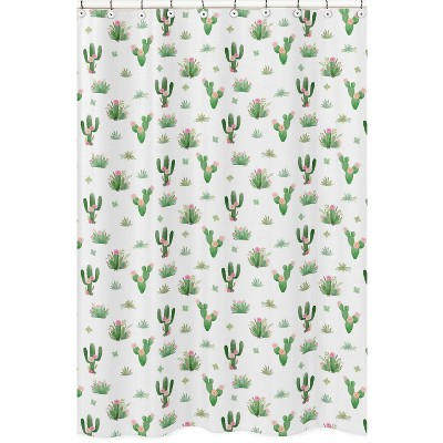 Cactus Floral Shower Curtain - Sweet Jojo Designs