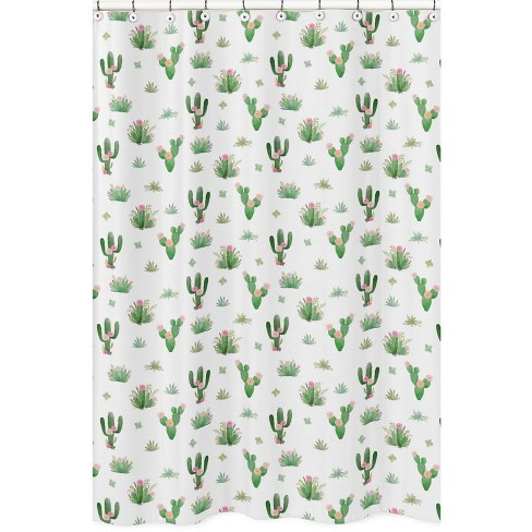 Cactus Floral Shower Curtain - Sweet Jojo Designs - image 1 of 3