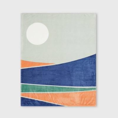 Landscape Printed Plush Throw Blanket - Room Essentials™