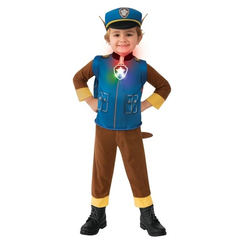 Toddler PAW Patrol Chase Halloween Costume Jumpsuit - image 1 of 3