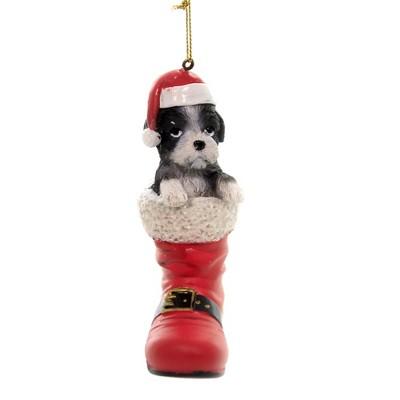 Holiday Ornaments 4 75 Shih Tzu In Santa Boot Pet Parade Target