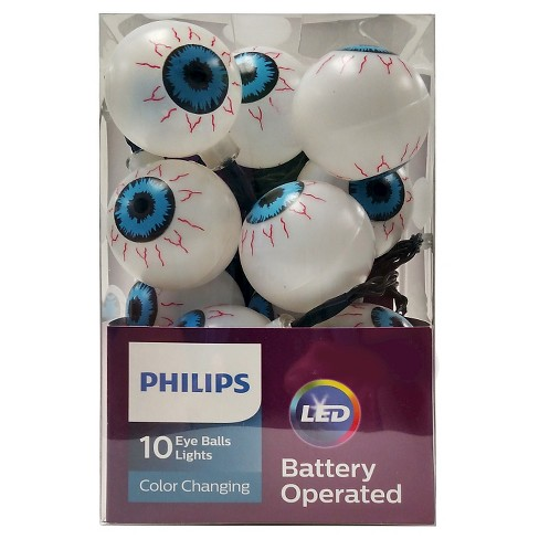 philips halloween led color changing eye balls battery operated string lights 10 ct target