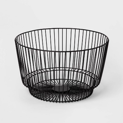 "18"" x 11"" Decorative Wire Basket Black - Project 62™"