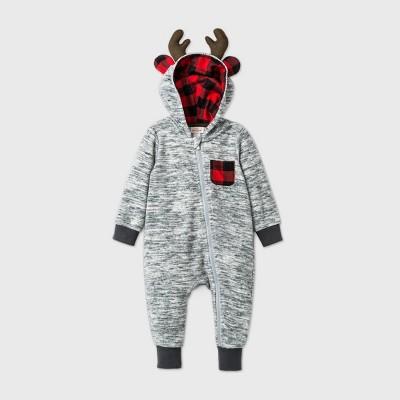 Baby Reindeer Romper - Cat & Jack™ Gray Newborn