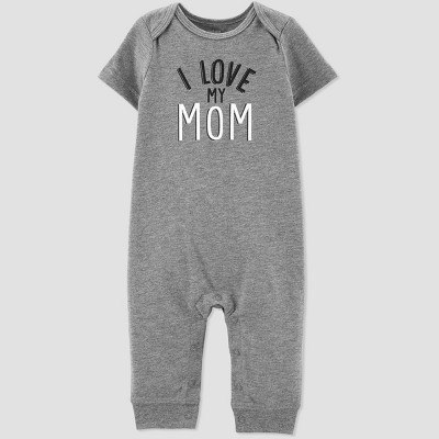 Baby Boys' Family Love 1pc 'I Love My Mom' Jumpsuit - Just One You® made by carter's Gray 6M
