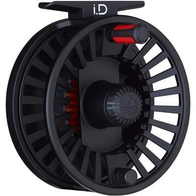 Redington Durable Die-Cast Aluminum Customizable 3/4 i.D Fly Fishing Reel with Full-Frame Back, Black