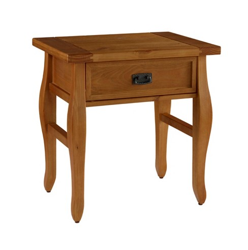 End Table Antique Wood - Linon Home Décor - image 1 of 4
