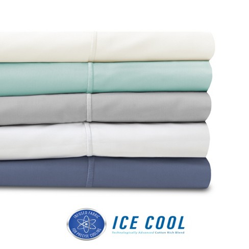 SensorPEDIC 400 Thread Count Ice Cool Cotton-Rich Sheet Set - image 1 of 4