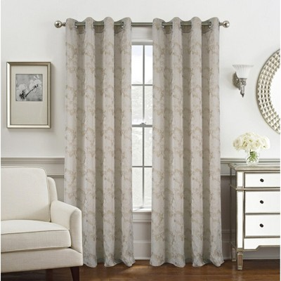 Ramallah Trading Tirano Two Tone Jacquard 54 x 90 in Grommet Curtain Panel