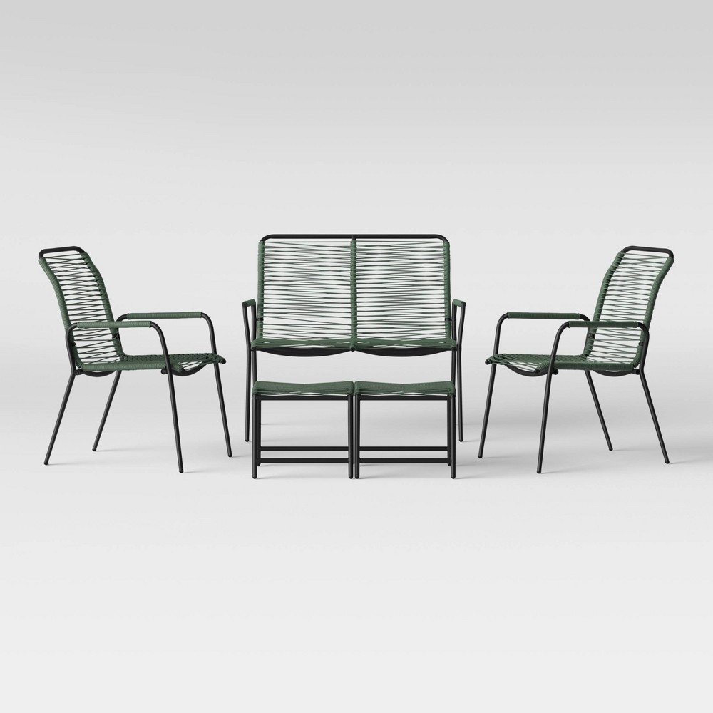 Fitchburg 5pc Patio Conversation Set - Green - Project 62 was $480.0 now $240.0 (50.0% off)
