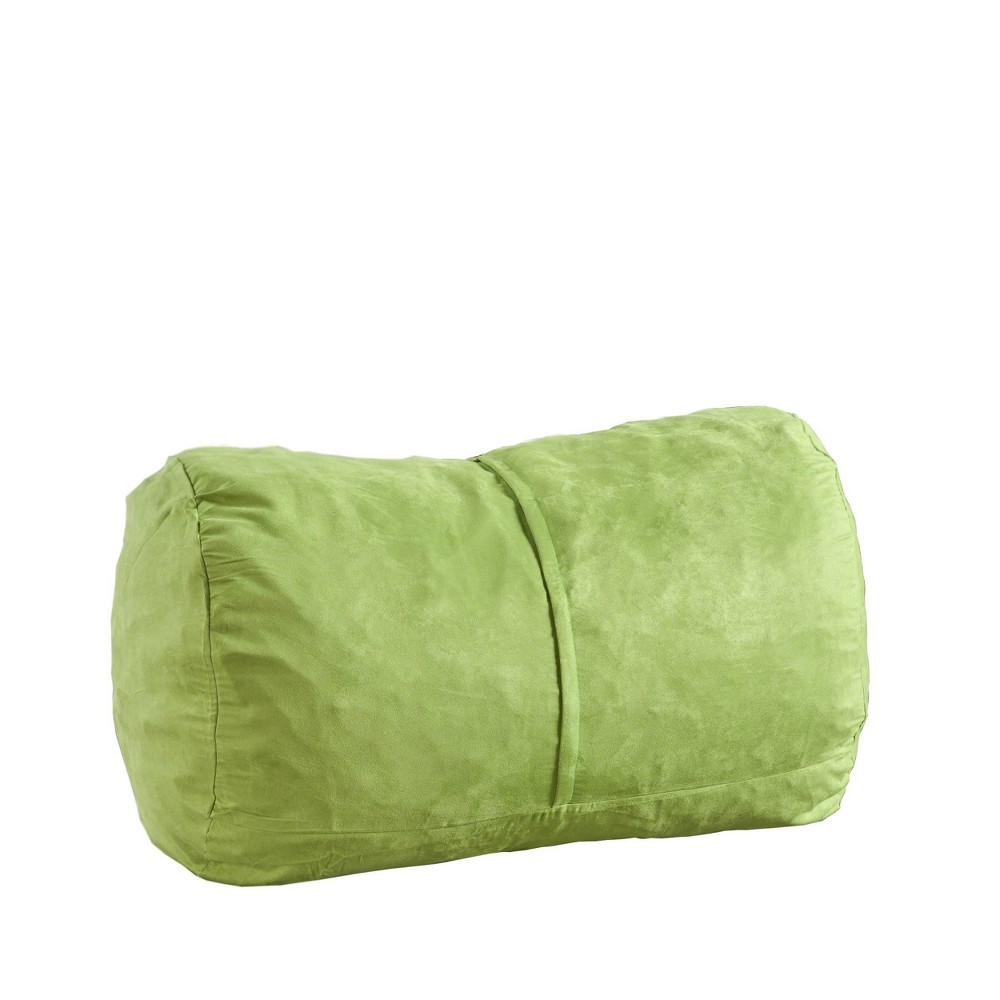 "Image of ""4"""" Barry Traditional Suede Bean Bag Cover Only Green - Christopher Knight Home"""