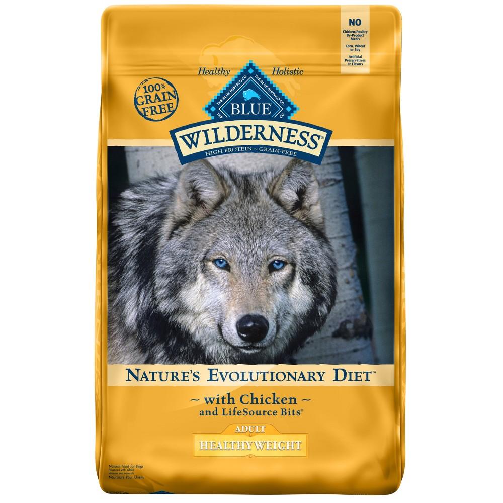 Blue Buffalo Wilderness 100% Grain-Free Chicken Adult Healthy Weight Dry Dog Food - 20lb